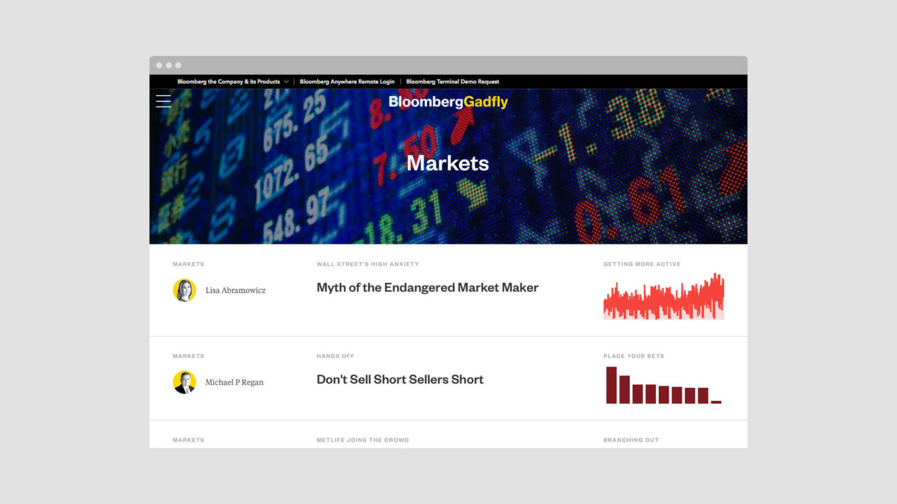 News articles aggregated on the Markets topic page