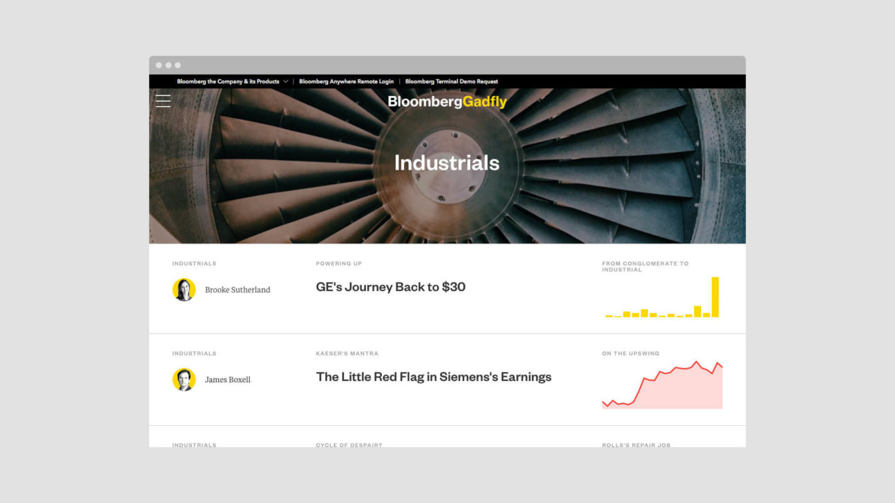 News articles aggregated on the Industrials topic page