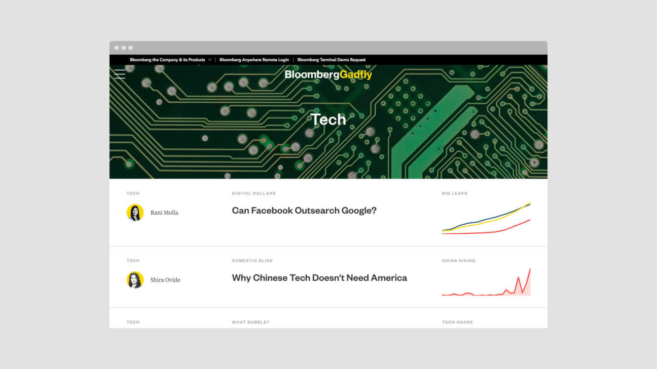 News articles aggregated on the Tech topic page