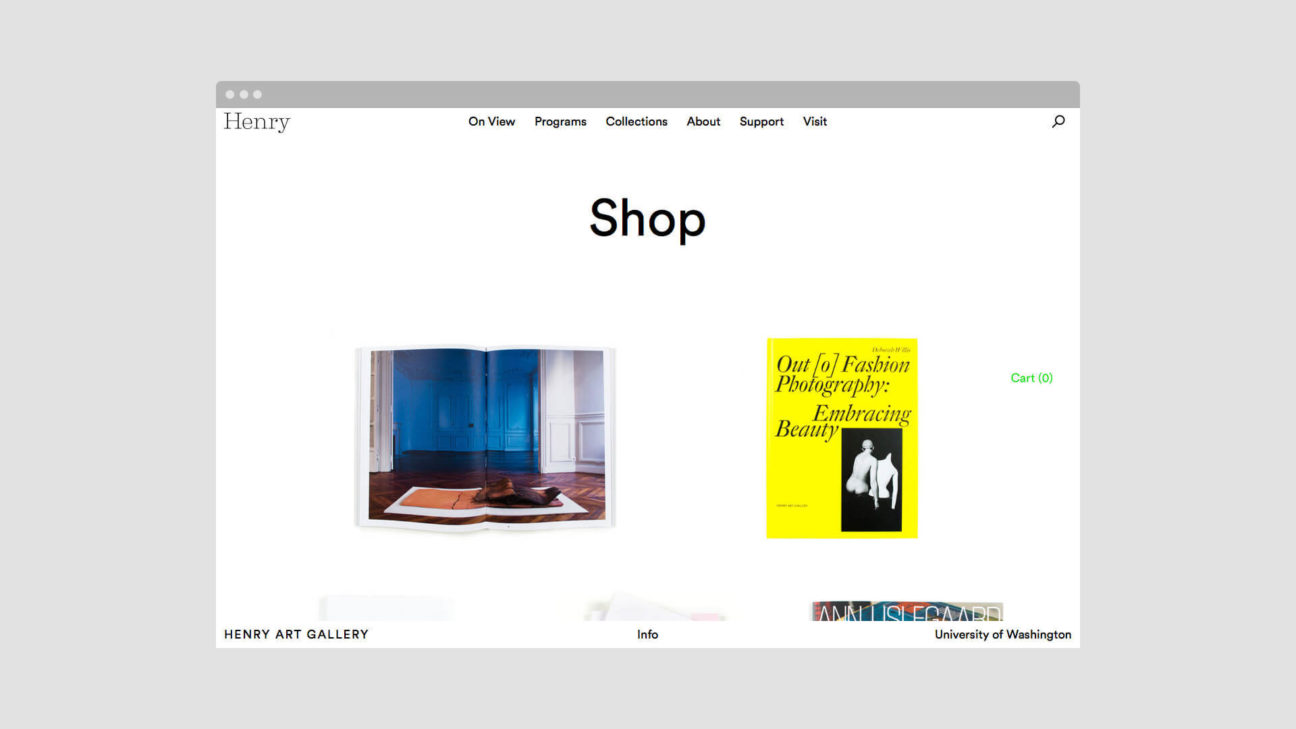 The museum online store
