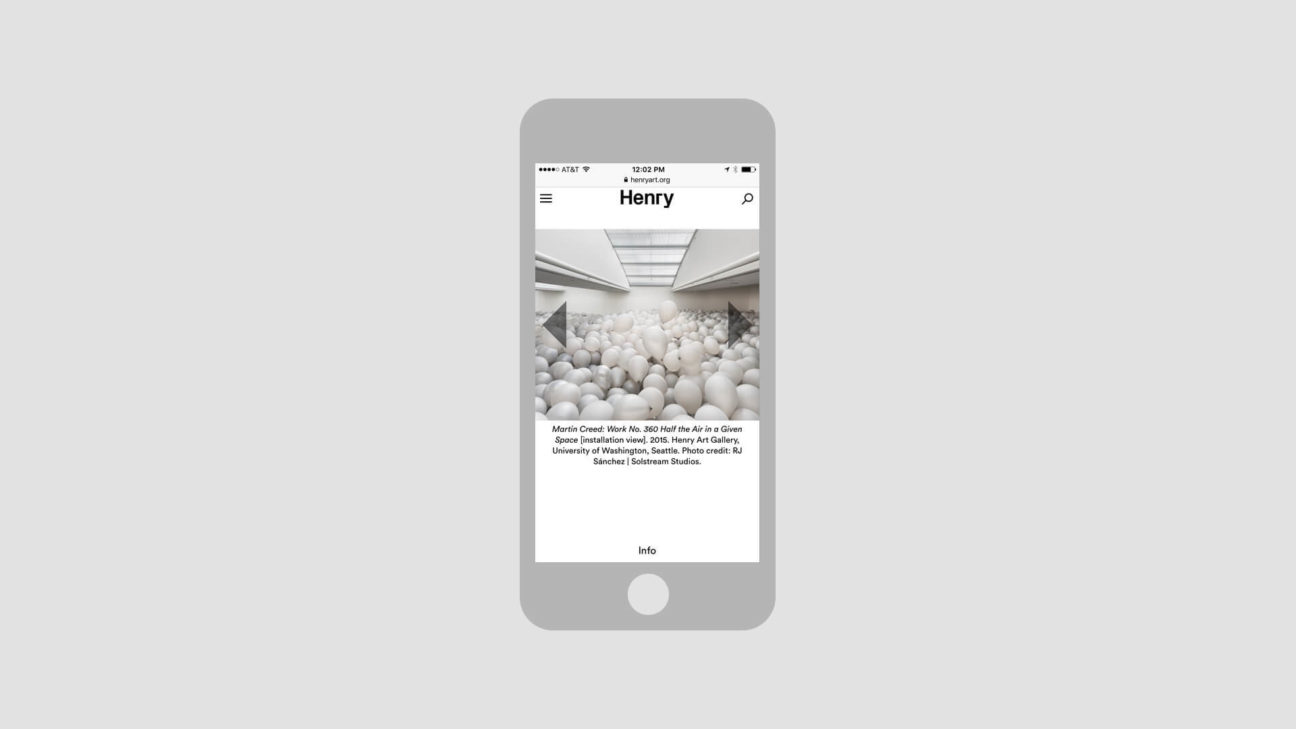 Exhibition pages on mobile