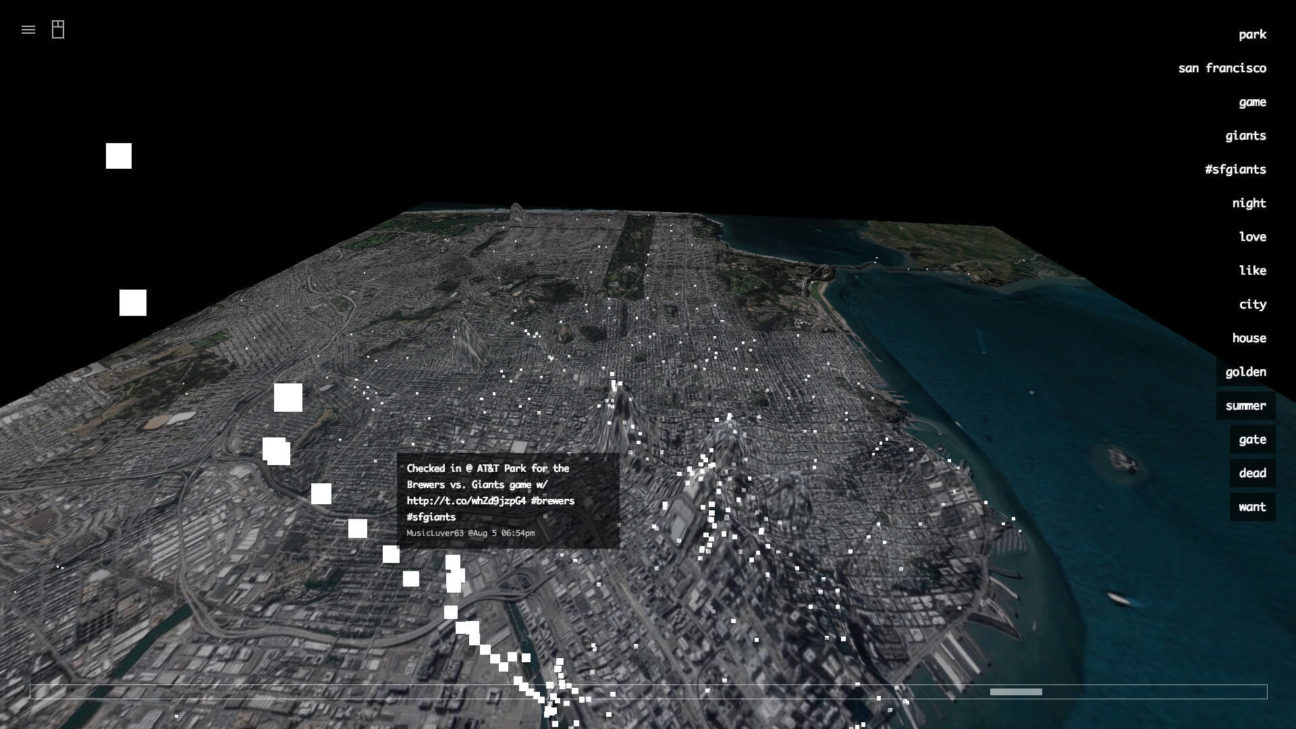 Interactive data visualization of San Francisco