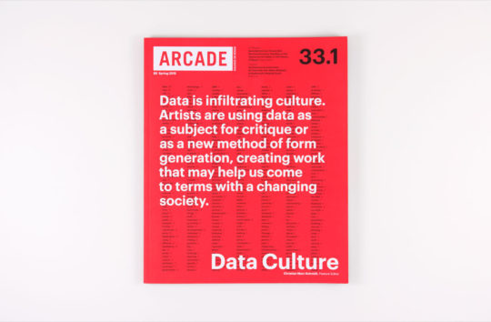 ARCADE 33.1 cover displays the most frequently used words in the issue