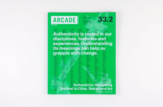 ARCADE 33.2 cover displays the most frequently used words in the issue