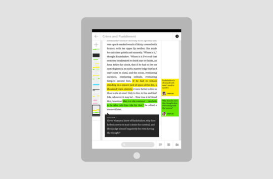 Schema designed the application to build reading comprehension