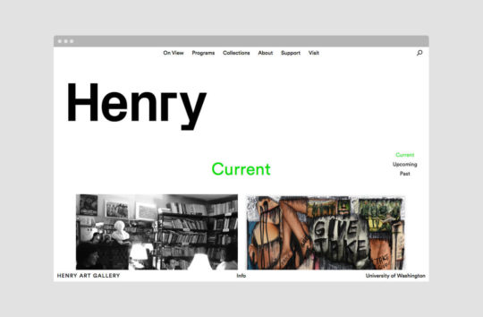 Schema redesigned the Henry Art Gallery website to celebrate the museum's content