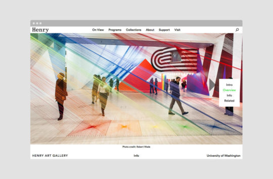 The site uses large, immersive images